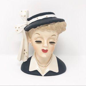 Vintage NAPCO Lucy Lady Head Planter/Vase 1956